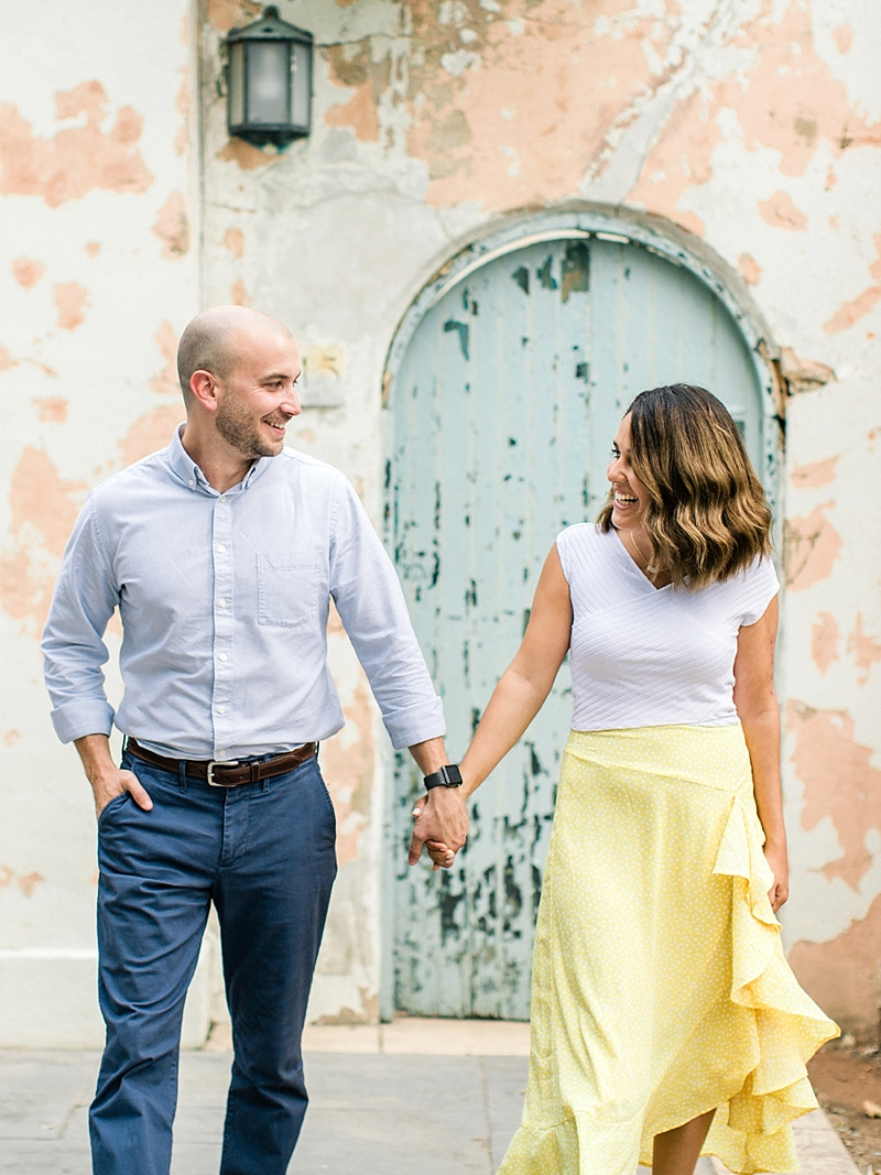 Beautiful engagement photos at Libby Hill Park in Richmond Virginia