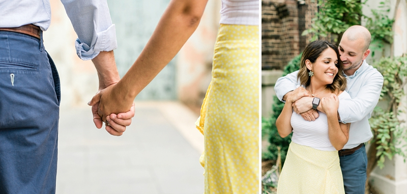 Timeless engagement session at Libby Hill Park in Richmond Virginia