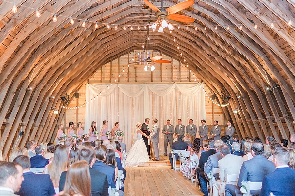 Gorgeous barn wedding ceremony in Richmond Virginia