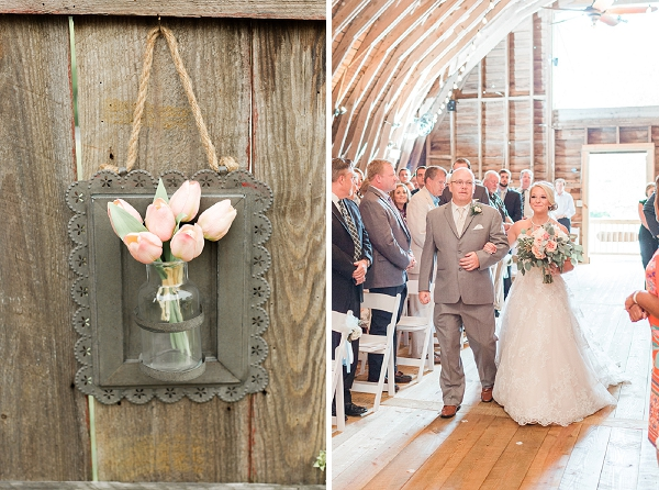 Rustic wedding details for a Virginia barn wedding