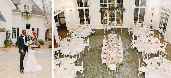 Elegant winter wedding at Mill at Fine Creek in Virginia