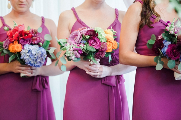 Vibrant modern wedding bouquets