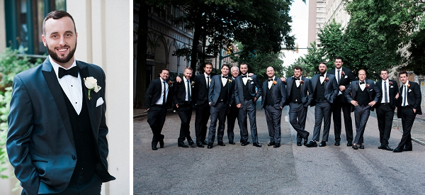 Handsome groomsmen in Richmond Virginia