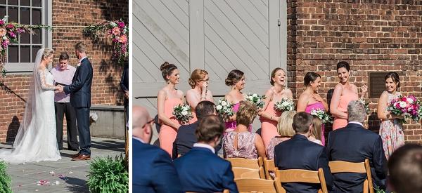 Happy moments in summer wedding ceremony in Richmond Virginia