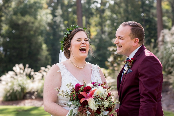 Happy moment with a bride and her bridesman