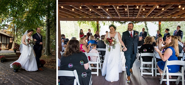 Outdoor wedding ceremony at Virginia country club venue