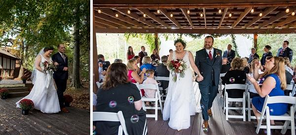 Outdoor wedding ceremony at Virginia country club venue