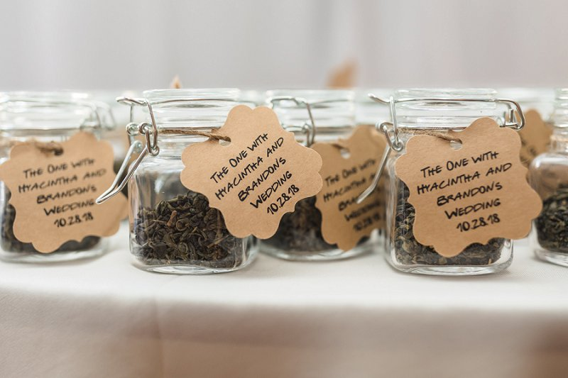 Friends TV show inspired wedding favors with green tea and coffee