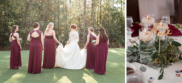 Richmond Virginia wedding with red bridesmaid dresses