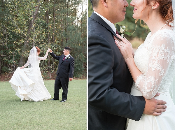 Sweet Richmond couple with country club wedding
