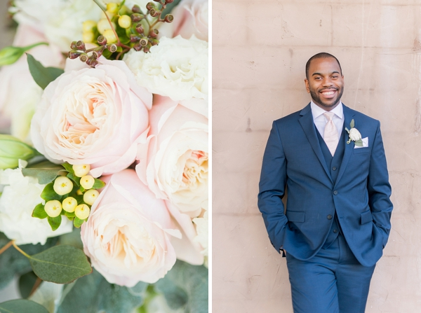 Garden pink flowers for Ashton Creek Vineyard wedding in Virginia
