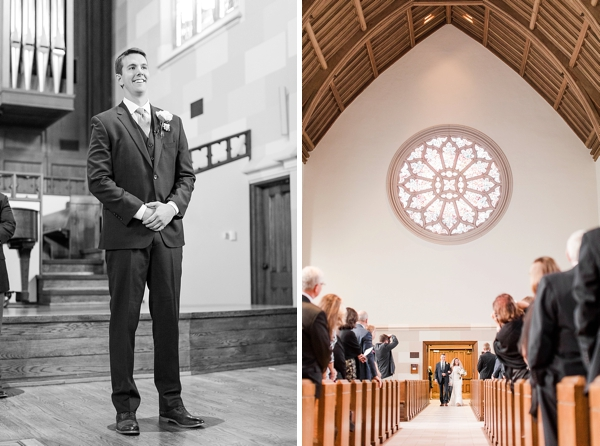 Wedding ceremony at University of Richmond chapel