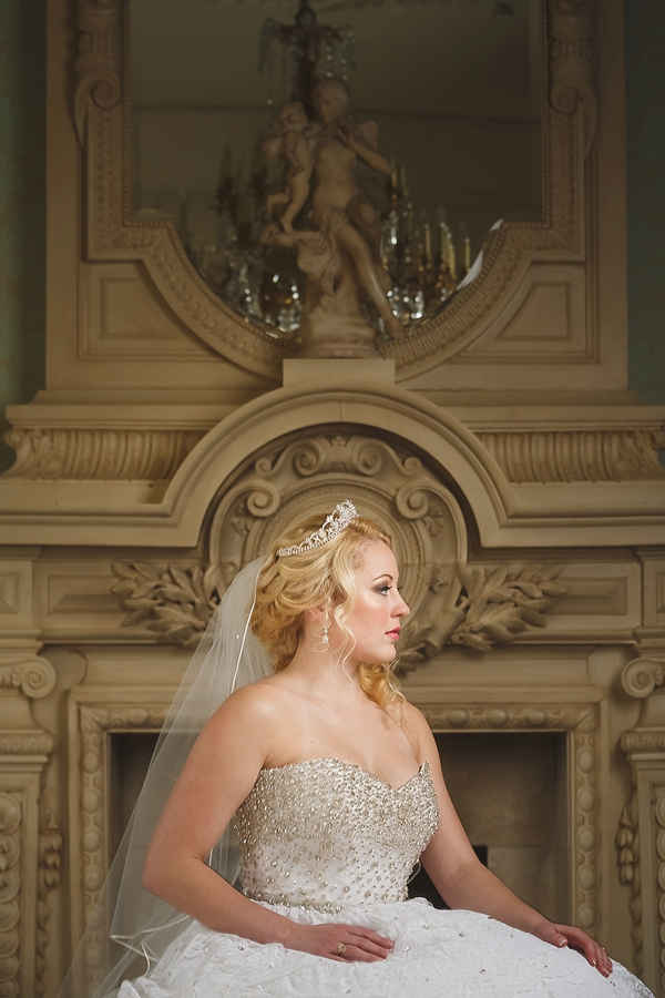Fairytale bridal portrait