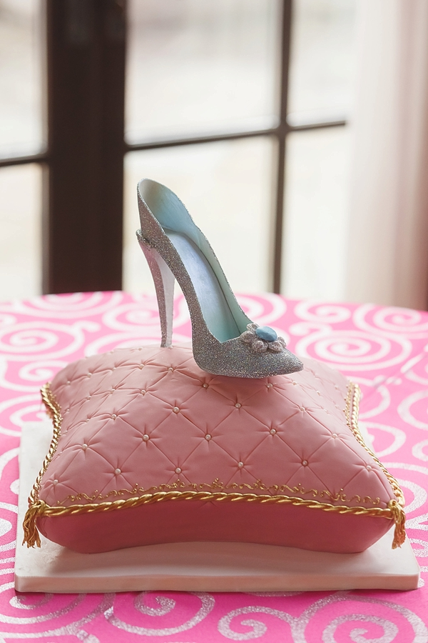 Cinderella glass slipper fairytale wedding cake