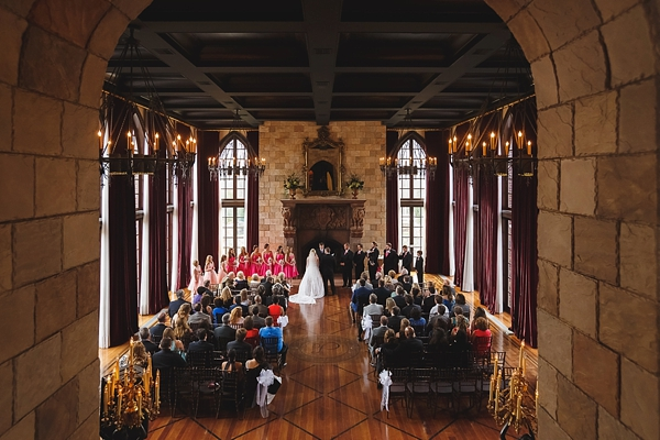 Wedding ceremony at Dover Hall Estate