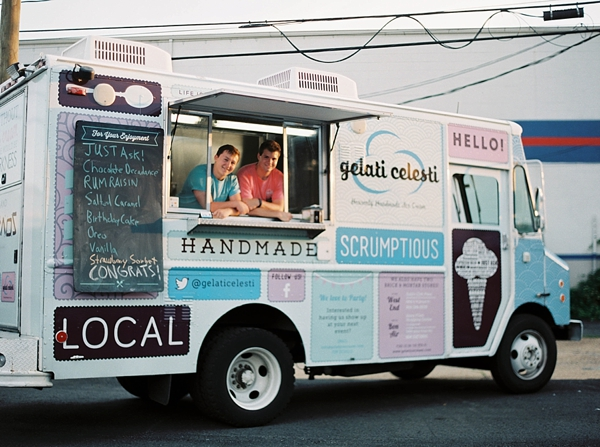 Ice cream truck for Richmond Virginia wedding reception