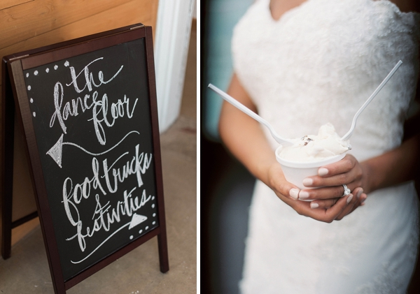 Calligraphy chalkboard sign for wedding reception