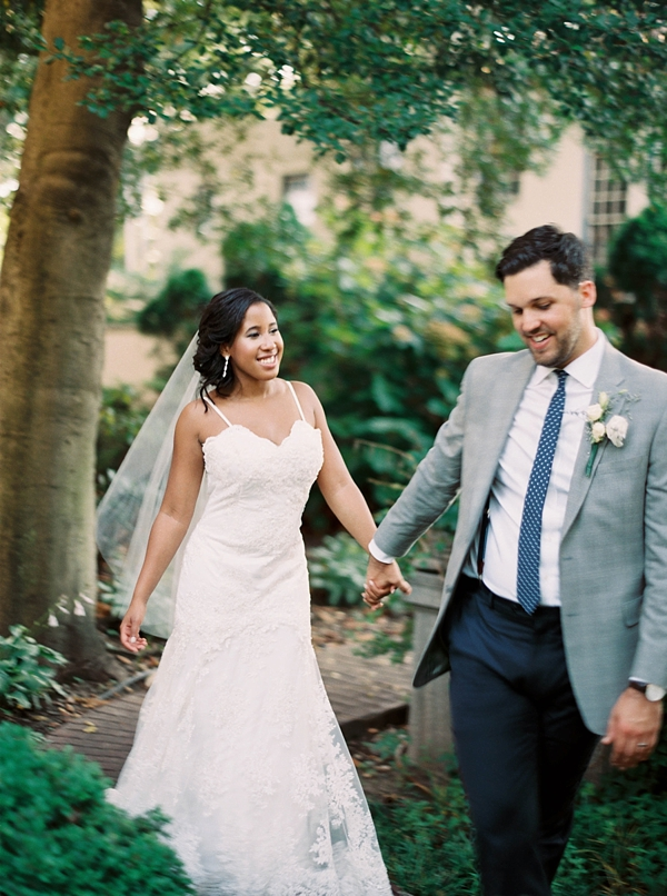 Modern classic bride and groom in Richmond Virginia