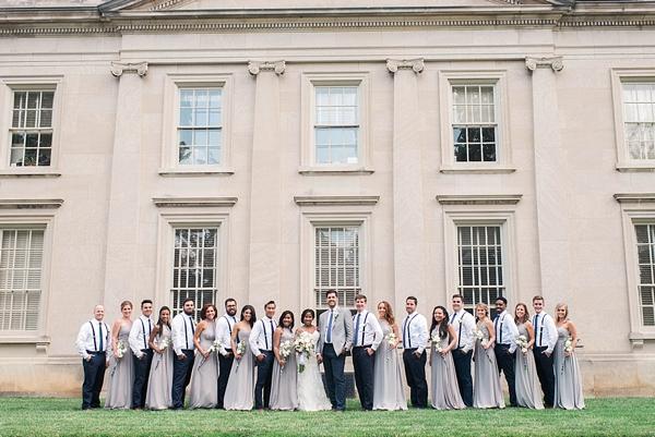 Wedding party in Richmond Virginia