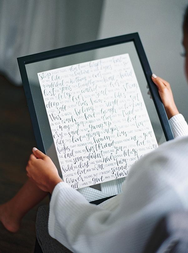 Gorgeous calligraphy wedding gift