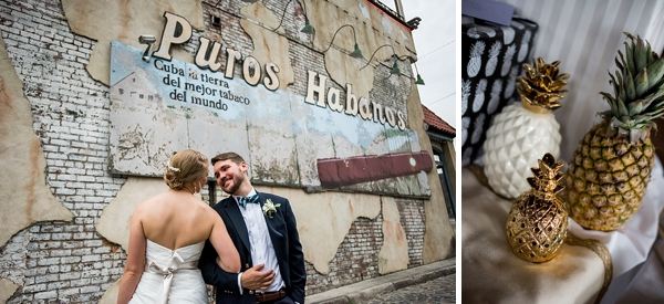 Pineapple themed wedding at Havana 59 Cuban Restaurant in Richmond Virginia