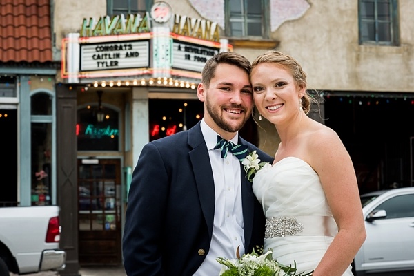 Havana 59 Richmond Virginia wedding with custom marquee wedding message