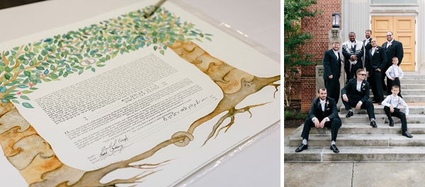 Watercolor garden for wedding ketubah