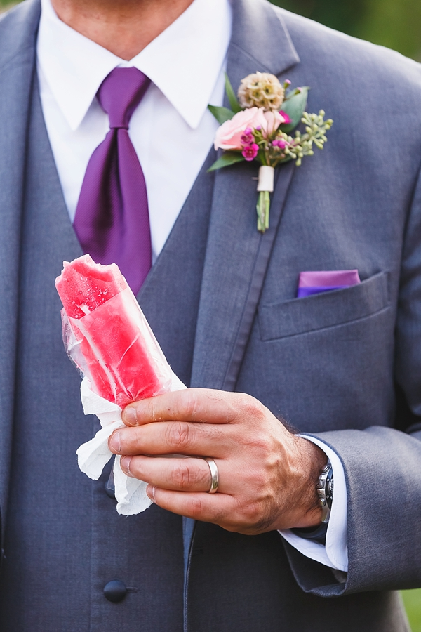 Purple pink wedding popsicles