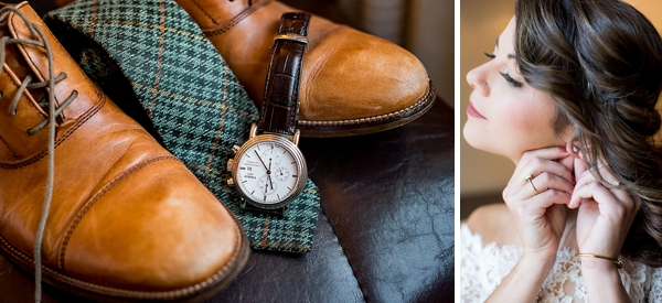 Rustic and cozy groom wedding day details