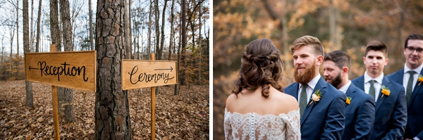 Handmade wedding ceremony and reception signs