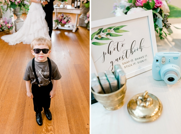 Cool ring bearer in Star Wars light saber shirt