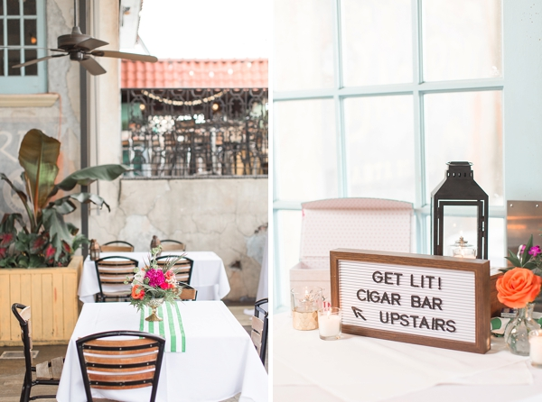 Get Lit cigar bar sign for Cuban inspired wedding
