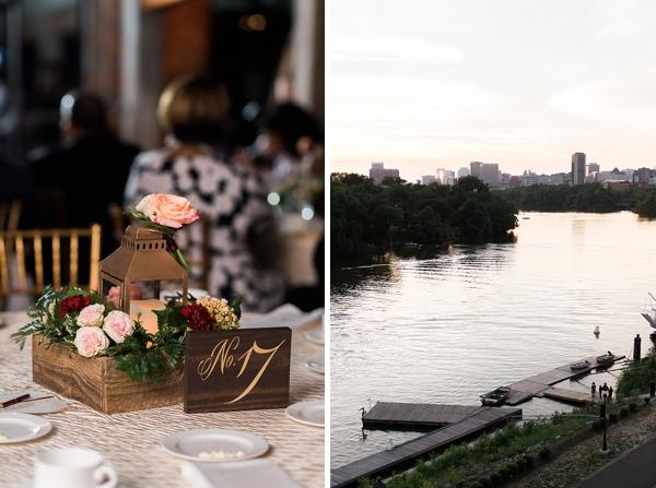Wedding reception overlooking James River in Richmond Virginia