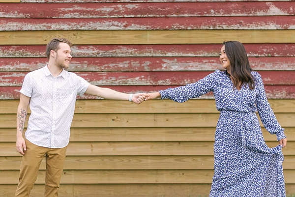Engagement session in Windsor Castle Park in Virginia