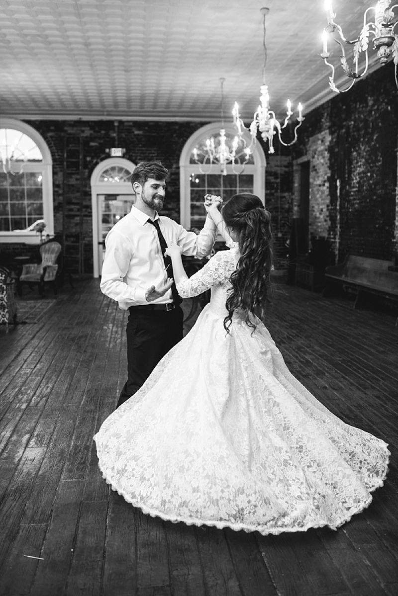 Sweet dance moment for rustic Smithfield Winery wedding