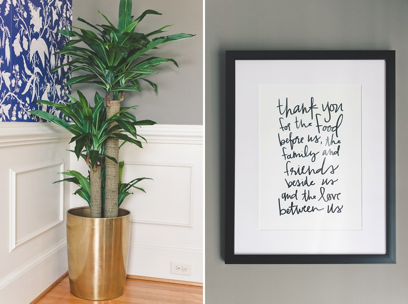 Dining room signage for personal touch