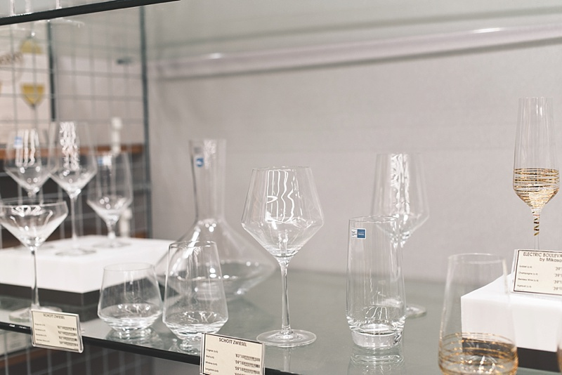 Fine glassware from Bed Bath and Beyond for your wedding registry