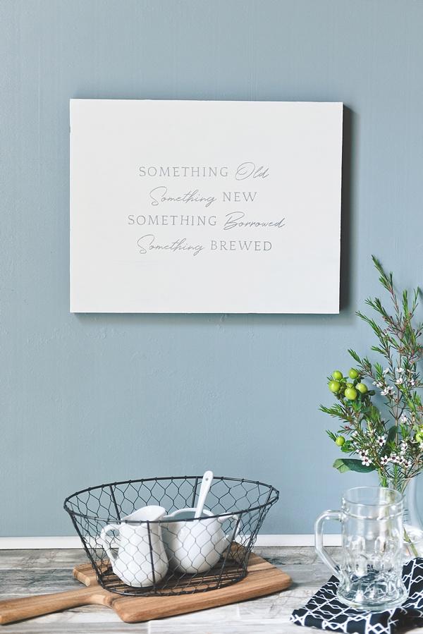 Cute wedding sign for coffee bar station