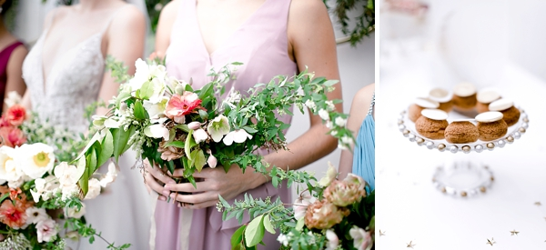 Loose and wild bridesmaid bouquets