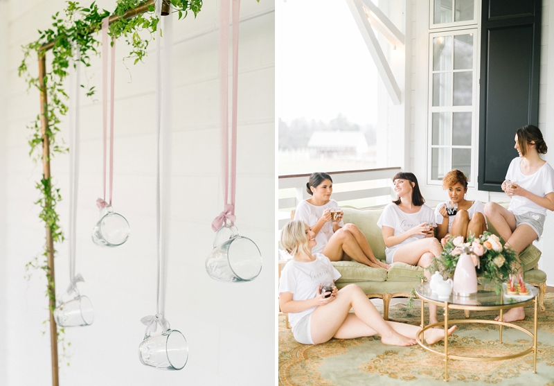 Chic wedding loungewear for bride and bridesmaids from Davids Bridal