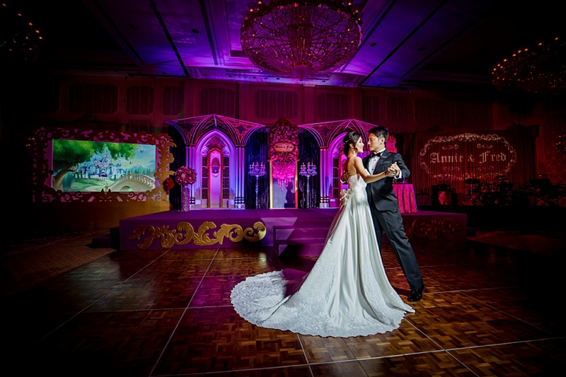 Fantasy themed royal wedding reception at Hong Kong Disneyland Resort