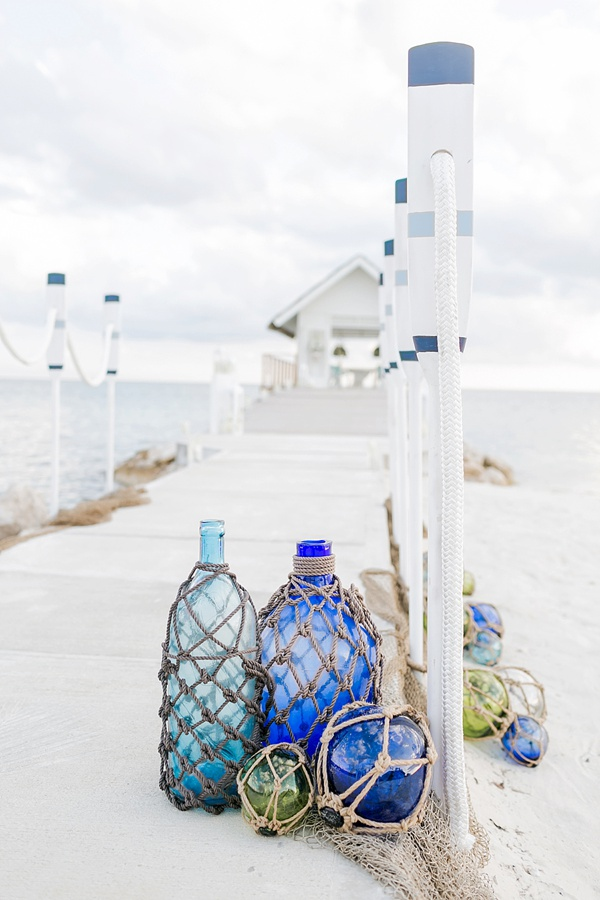 Nautical chic wedding ceremony decor ideas at Sandals South Coast