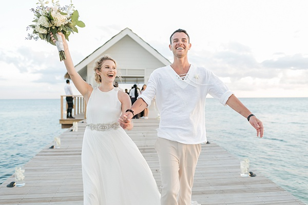 Destination beach wedding at Sandals South Coast in Jamaica