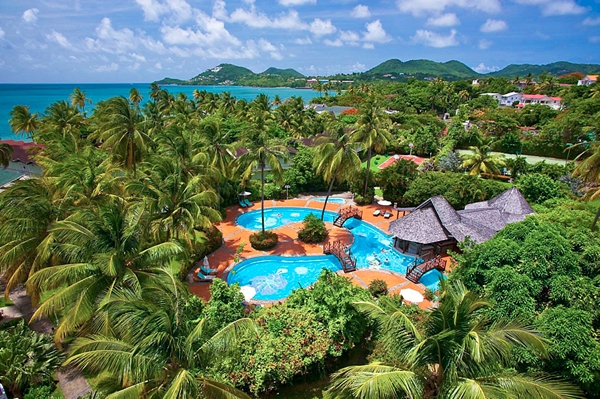Tropical luxury at Sandals Halcyon in Saint Lucia