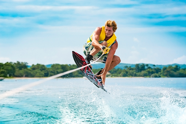 Wakeboarding at Sandals Negril in Jamaica
