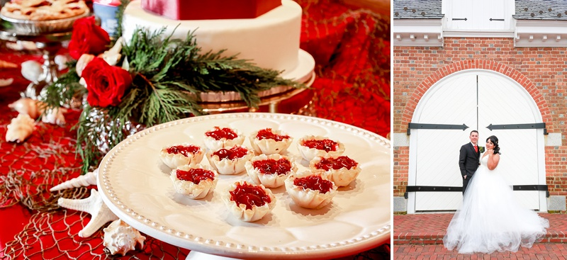 Bite sized cherry tarts for Christmas wedding desserts