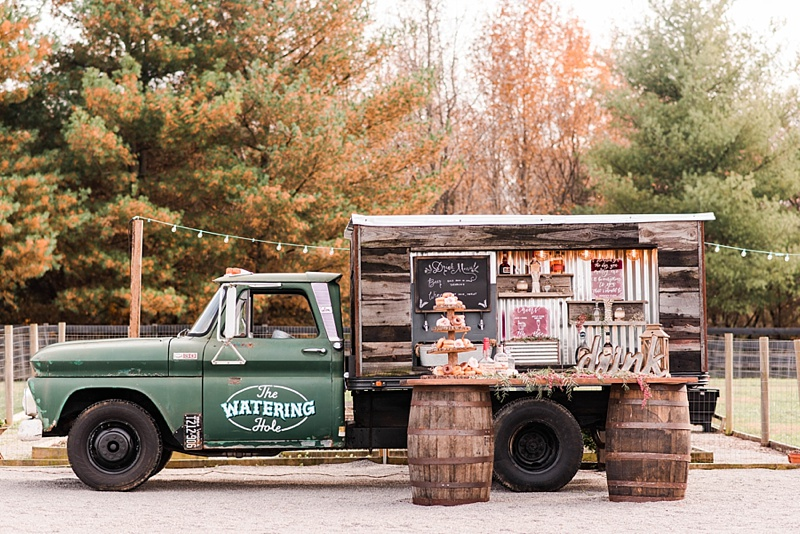 Cute rustic beer and wine truck for Virginia weddings