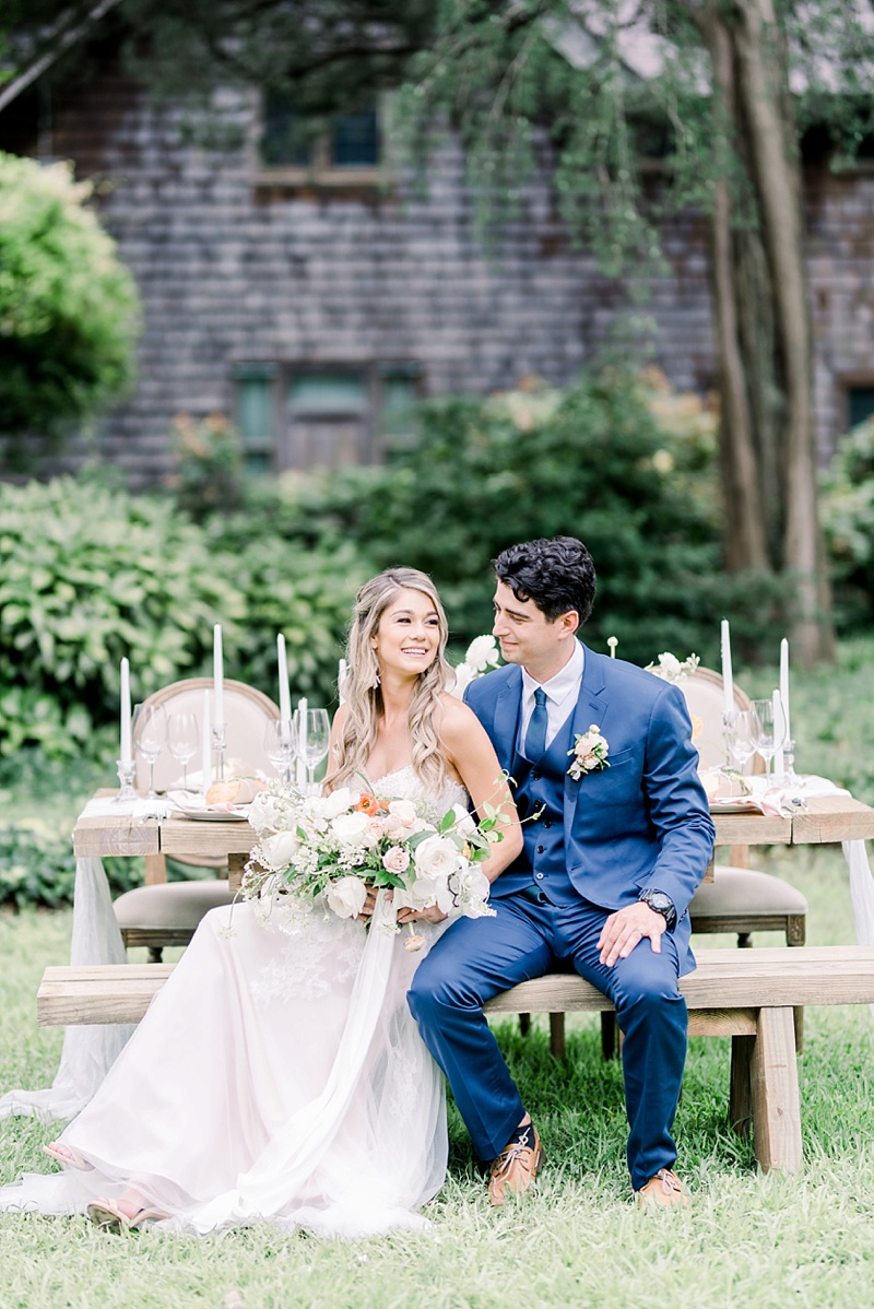 Elegant and rustic wedding at Hermitage Museum and Gardens in Norfolk Virginia