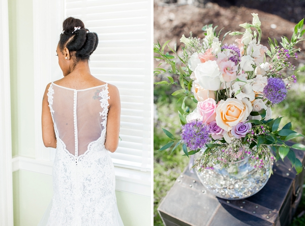 Pastel garden florals for a glam wedding