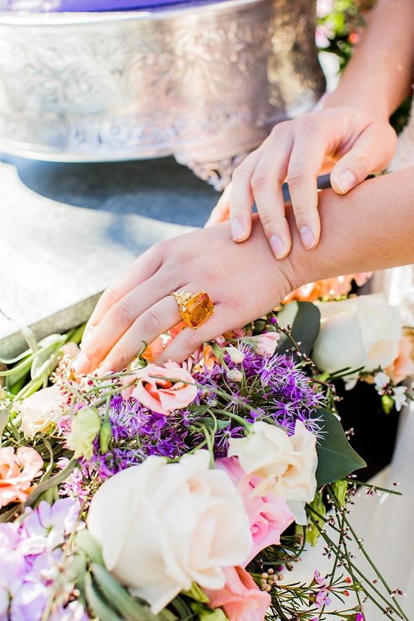 Gorgeous amber yellow engagement ring